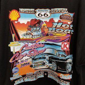 2016 Hot Boat & Custom Car Show Tee Shirt Route 66